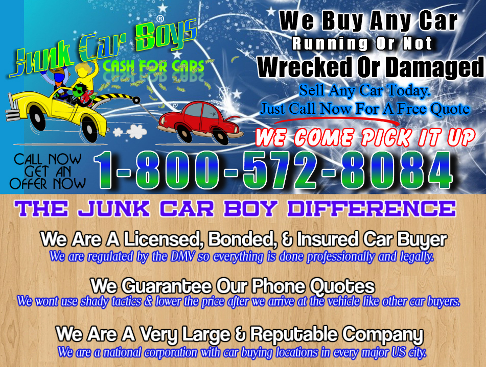 Cash For Cars Dallas TX - We Buy Junk Vehicles Same Day